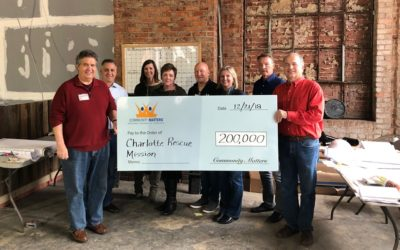 Community Matters Presents $200,000 Check to Charlotte Rescue Mission
